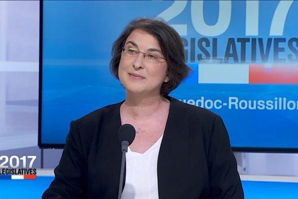 Muriel Ressiguier (LFI), candidate aux législatives dans la 2e circonscription de l'Hérault