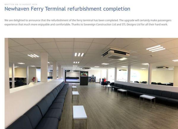 L'accueil des voyageurs dans le nouveau terminal transmanche à Newhaven