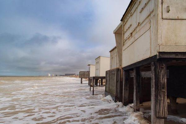 Les grandes marées offrent des images insolites comme à Blériot-Plage