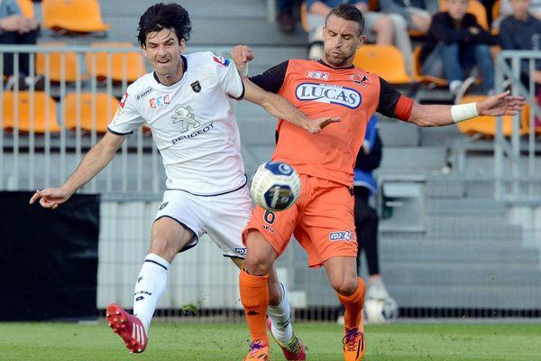 Lors de la rencontre entre le Satde Lavallois et le FC Sochaux le 12 août 2014