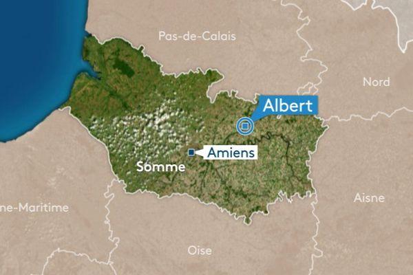 Le drame s'est produit à la limite ouest d'Albert, sur la route d'Amiens.