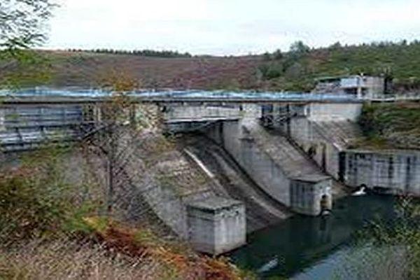 Le barrage du Raschas en Lozère - archives