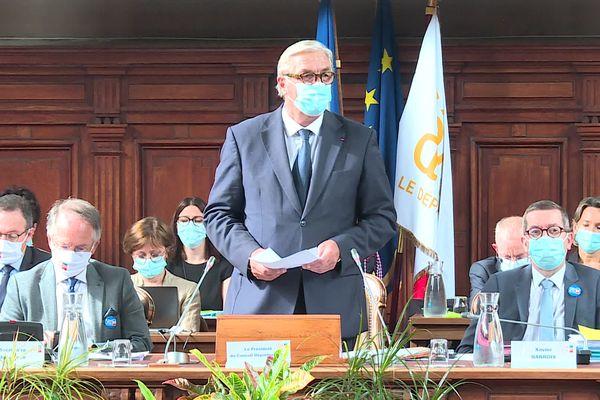 François Sauvadet, le 1er juillet 2021, suite à sa réélection à la tête du conseil départemental de la Côte-d'Or.