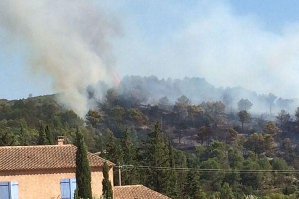 Départ de feu signalé sur la commune de Cabrières dans l'Hérault le 29 septembre 2018