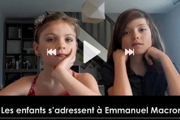 Louise et Sacha interpellent Emmanuel Macron.