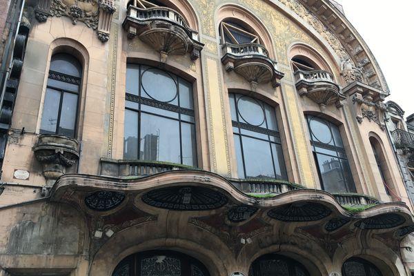 La façade Art nouveau inscrite aux Monuments historiques.