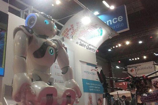 Nao, le robot convivial saint-quentinois, au salon InnoRobo, le 24 mai 2016.