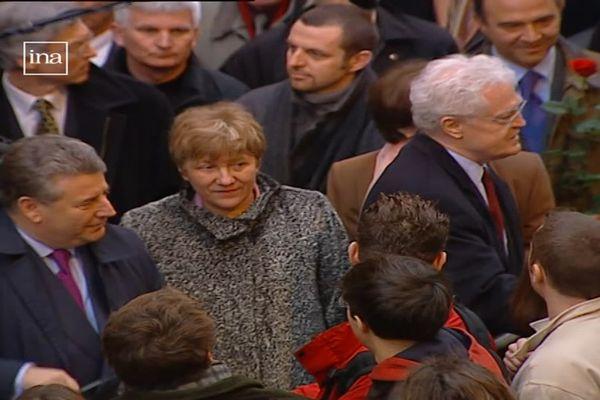 En 2002, pour le bicentenaire de la naissance de Victor Hugo à Besançon, Jean-Louis fousseret, Paulette Guinchard et Lionel Jospin, Premier Ministre