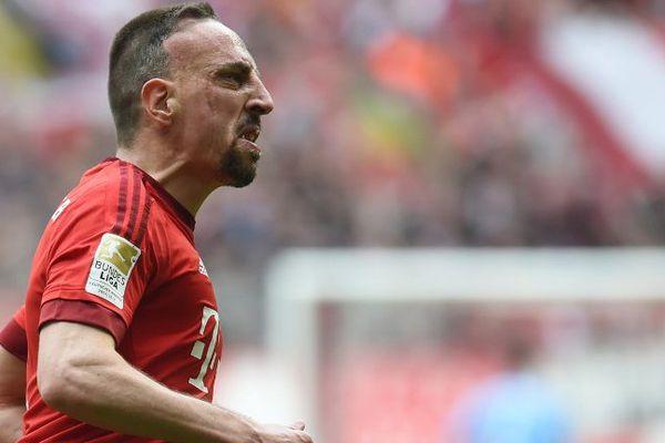 Ribéry, ce samedi après son but pour le Bayern Munich face à Francfort.