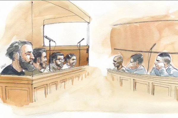 Croquis d'audience du procès en première instance