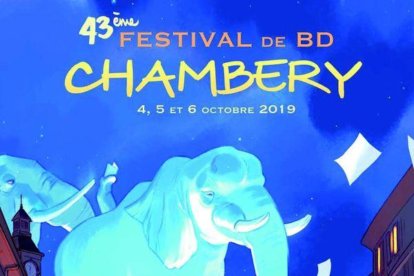 Affiche Festival de la BD Chambéry 2019