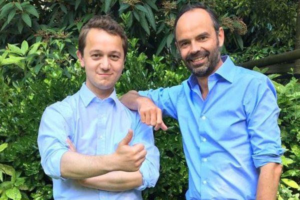 Maël de Calan (LR) au côté d'Edouard Philippe ce 13 juin 2017