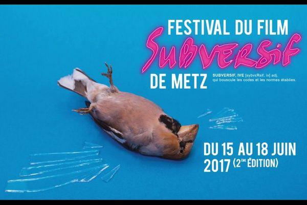 Affiche du Festival du film subversif de Metz