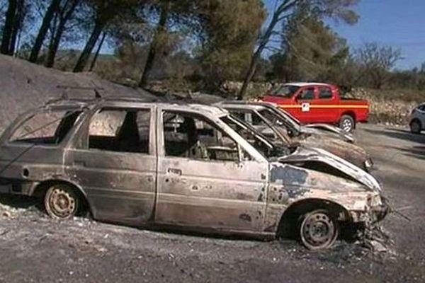 Peyriac-de-Mer (Aude) - les dégâts après l'incendie - 31 juillet 2014.