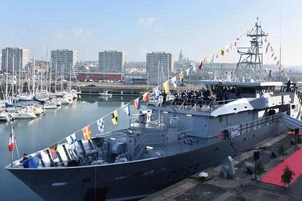 """Le patrouilleur """"La Confiance"""" a été inauguré mardi dans le port de Boulogne-sur-Mer."""