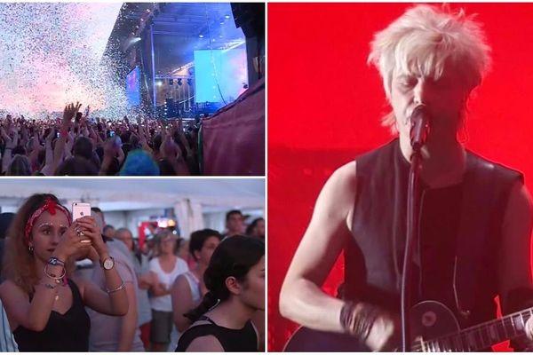 Première soirée du festival Garorock à Marmande, jeudi 28 juin, avec le concert d'Indochine.