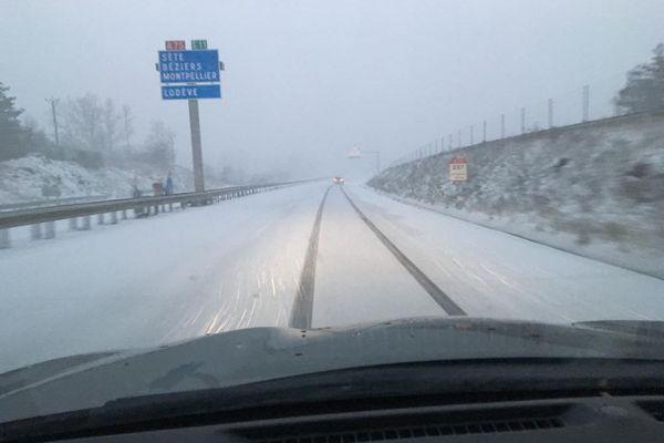 5 à 10 cm de neige sont tombés en Lozère et jusqu'au nord de l'Hérault ce vendredi 25 décembre.