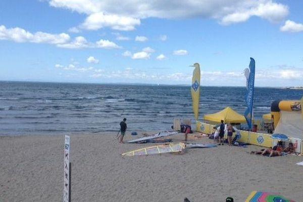 La plage Richelieu d'où le véliplanchiste expérimenté est parti.