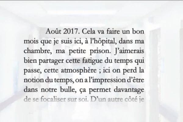 Traces de vie, des livres écrits par des enfants malades, à Besançon.