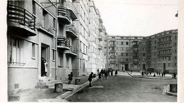 L'intérieur de la Cité Victor Thuillat dans les années 1930