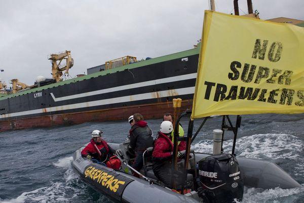 Le navire-usine lituano-néerlandais Margiris a été arraisonné par Greenpeace en Australie. Le pays a décidé d'expulser ce monstre des mers de ses eaux.