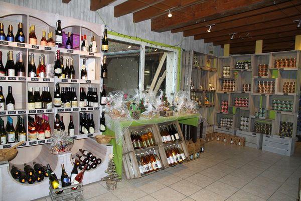 Les champignons de Cussangy proposent aussi dans leur boutique des produits des producteurs locaux.