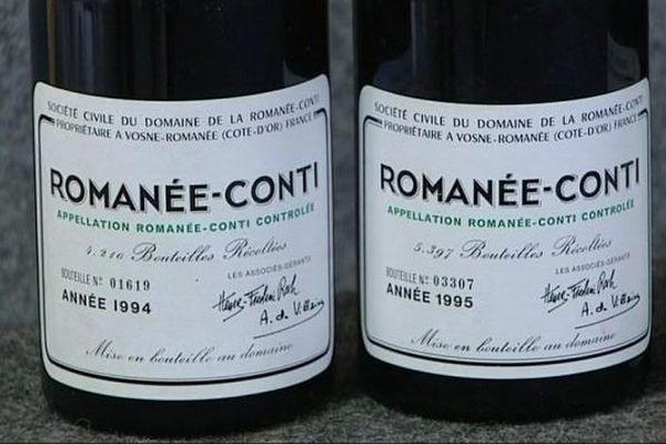 - Archives.  Des bouteilles de Romanée-Conti  mises à prix entre 7 et 8 000 euros pièce lors d'une vente aux enchères en Côte d'Or
