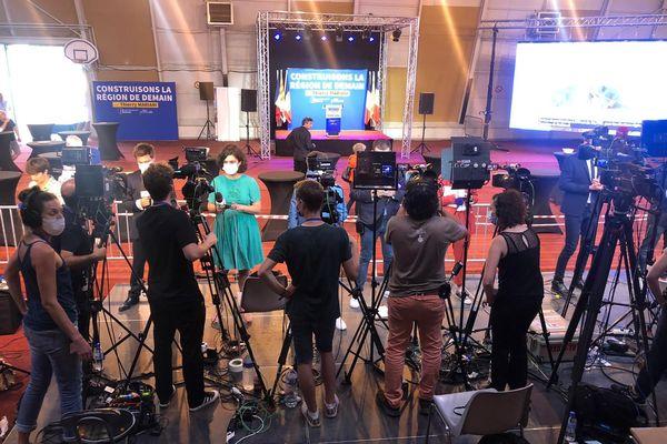 Au QG de Thierry Mariani pour le premier tour des élections régionales 2021 en Paca.