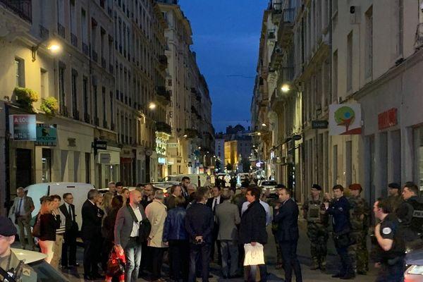 Vendredi soir, brève visite du ministre de l'Intérieur C.Castaner rue Victor Hugo.