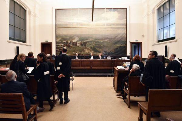 La salle d'audience dans laquelle les procureurs ont annoncé mardi 26 septembre que Salah Abdeslam souhaitait se rendre à Bruxelles pour son procès.