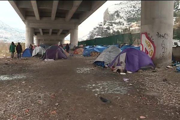Camp de migrants à Vintimille, le 1er mars 2018