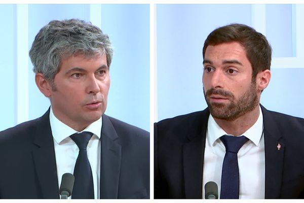 Gilles Platret et Julien Odoul sur le plateau de Dimanche en politique