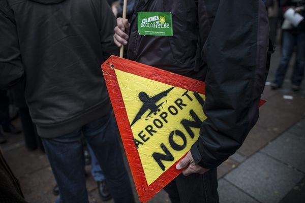 Lors d'une précédente manifestation anti-aéoroport en novembre 2012