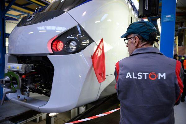 Présentation de la rénovation de rames du RER B par Alstom dans son usine de Reichshoffen (Bas-Rhin) en octobre 2019.