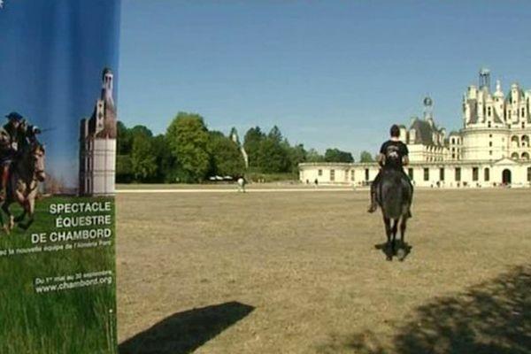 Spectacle équestre à Chambord (Loir-et-Cher)