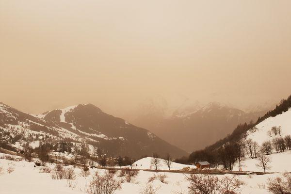 L'Alpe d'Huez le 6 février 2021.