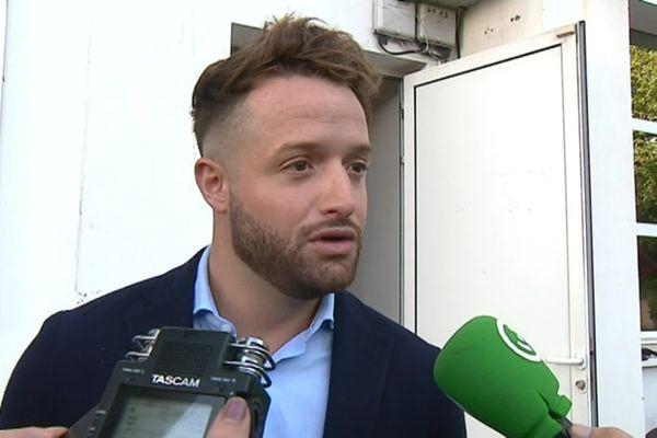 Archives. Jean-Baptiste Aldigé en juin 2018, lorsqu'il devient le nouveau patron du Biarritz Olympique.