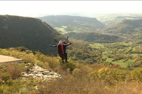Vol libre au Mont Poupet