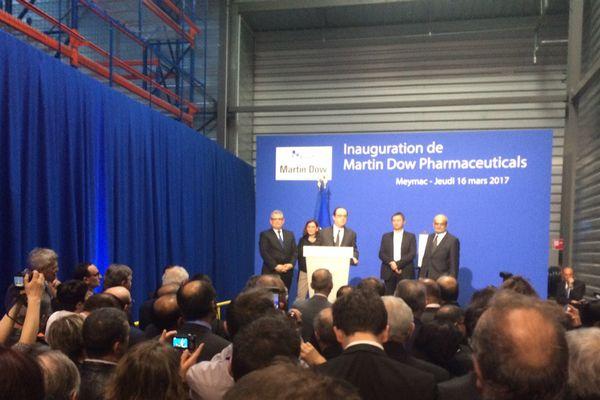 Meymac (19) inauguration de l'usine Martin Dow Pharmaceuticals