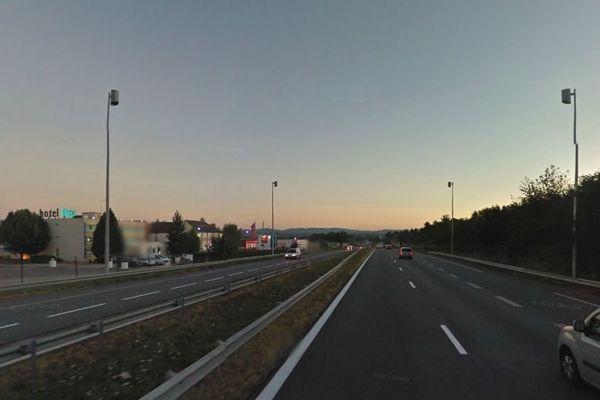 Autoroute A20, près sortie 29, au nord de Limoges (illustration)