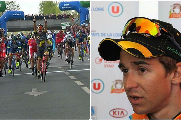 Bryan Coquard, vainqueur de la deuxième étape du circuit cycliste Sarthe-Pays de la Loire