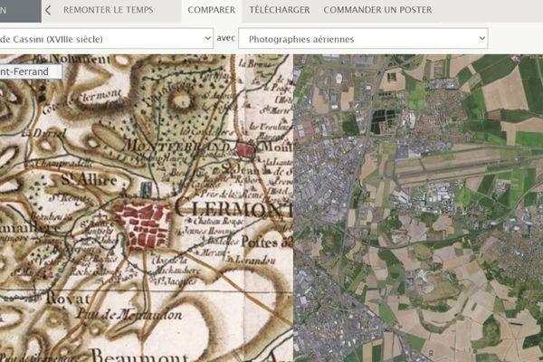 À quoi ressemblait la place de Jaude à Clermont-Ferrand (Puy-de-Dôme) il y a 60 ou 70 ans ? L'IGN, l'institut national de l'information géographique et forestière, propose de découvrir les transformations de votre quartier au cours des dernières décennies.
