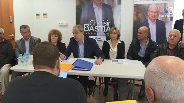 Jean Zuccarelli présentait son projet, le 15 décembre dernier, entourés de figures du parti communiste bastiais, Toussainte Devoti et Francis Riolacci