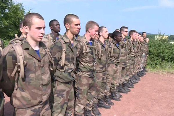 Les réservistes en formation au 35e RI de Belfort