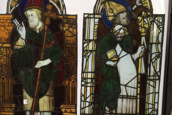 Un vitrail de la chapelle Saint-Piat à rénover