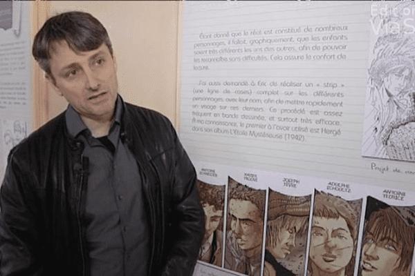"""Frédéric Bertocchini, auteur de la bande dessinée """"Le bagne de la honte"""""""