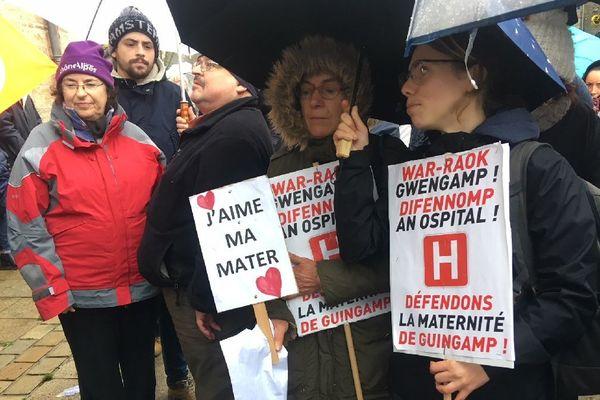 Manifestation pour la maternité de Guingamp