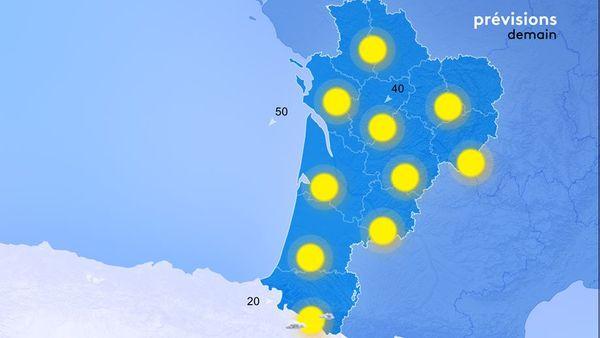 Le soleil brillera encore généreusement en nouvelle-Aquitaine !