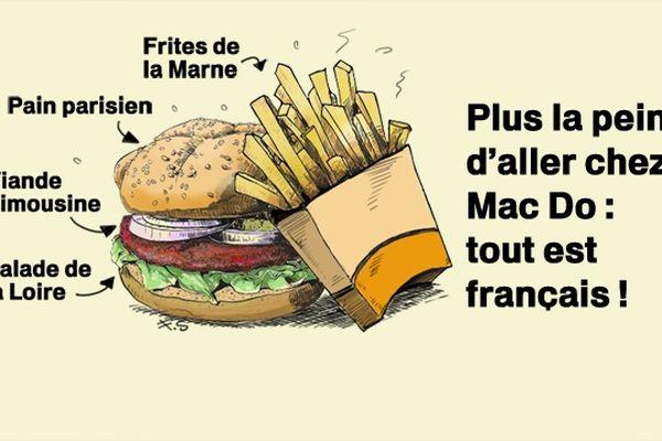 La bouffe française, vu par notre dessinateur François Schmidt.