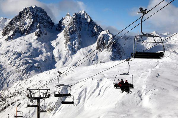 Le domaine de Balme dans le massif du Mont-Blanc, le 20 décembre 2017.